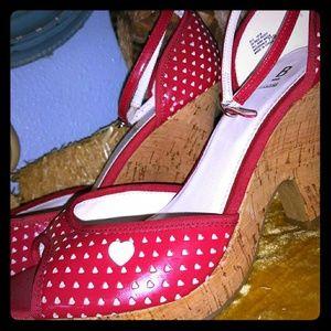 Red Vintage Heart Espadrilles